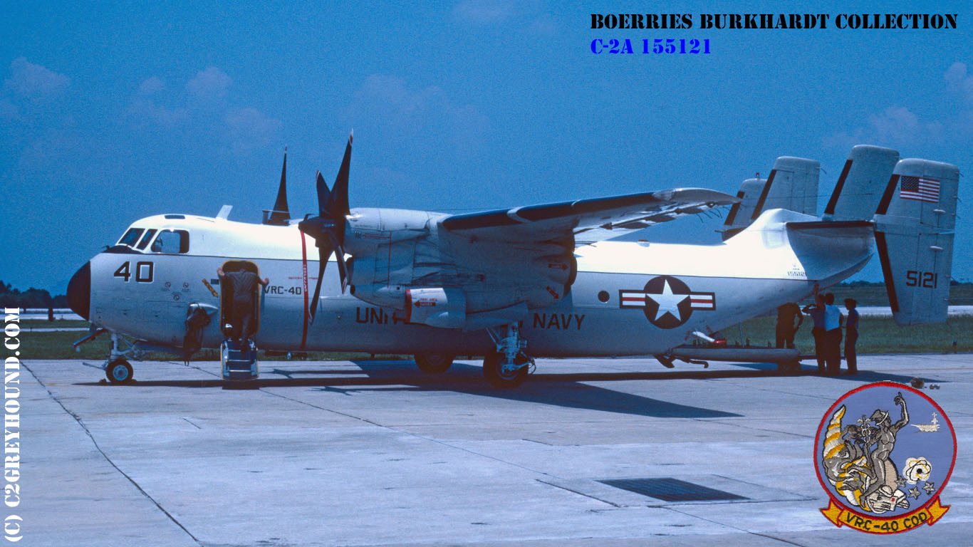 Grumman C-2A Greyhound VRC-40 BuNo 155121